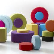 Unique fabric design. - Unique fabric design. - chair, furniture, plastic, product, product design, purple, table, white