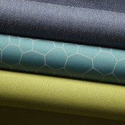 Rolls of special fabric. - Rolls of special blue, green, material, textile, turquoise, brown