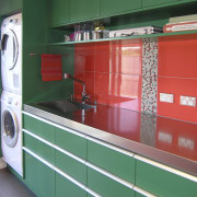 Green and Red Kitchen. - Green and Red countertop, kitchen, product, room, teal