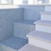 Unique stair design. - Unique stair design. - floor, tile, wall, gray, teal