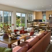 Architect Alexander Gorlin distilled the essence of a home, interior design, living room, real estate, gray, brown