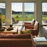 Architect Alexander Gorlin distilled the essence of a home, interior design, living room, real estate, window, brown