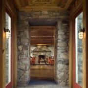 Architect Alexander Gorlin distilled the essence of a door, home, interior design, wall, wood, brown