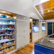 This kitchen was designed by Kim Duffin of interior design, gray