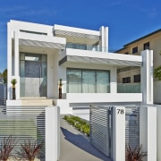 Contemporary family home by Starr Constructions - Contemporary architecture, building, elevation, estate, facade, home, house, neighbourhood, official residence, property, real estate, residential area, gray, blue