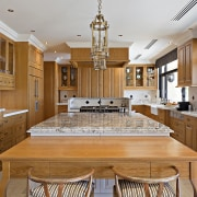 solid wood kitchen designed by Leon House features cabinetry, ceiling, countertop, cuisine classique, estate, interior design, kitchen, real estate, room, brown