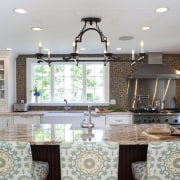 Country style family kitchen - Country style family ceiling, countertop, dining room, home, interior design, kitchen, living room, real estate, room, table, window, gray