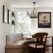 Country style family kitchen - Country style family ceiling, furniture, home, interior design, living room, room, table, gray