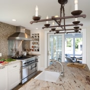 Country style family kitchen - Country style family countertop, floor, home, interior design, kitchen, room, gray