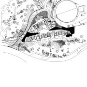 Plans of Cairns Botanic Gardens Visitor Centre - area, artwork, automotive design, black and white, cartoon, design, diagram, drawing, font, illustration, line, line art, monochrome, product design, text, white