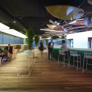 The flooring in the Lion headquarters in Sydney interior design, black