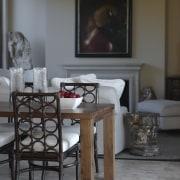 Interior by designer Garth Barnett - Interior by chair, coffee table, dining room, floor, flooring, furniture, home, interior design, living room, room, table, gray