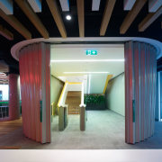 Fire-rated solution from Won-Door architecture, ceiling, interior design, lobby, black