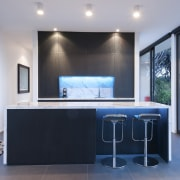 Holistic design by Yellowfox accentuates house and site house, interior design, real estate, window, gray