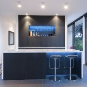 Holistic design by Yellowfox accentuates house and site interior design, lobby, real estate, gray