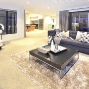 Yellowfox exterior and interior design project - Yellowfox floor, flooring, hardwood, home, interior design, laminate flooring, living room, property, real estate, room, table, wood flooring, orange