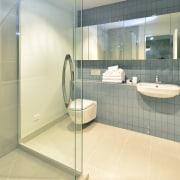 Yellowfox exterior and interior design project - Yellowfox bathroom, floor, flooring, glass, interior design, plumbing fixture, product design, property, real estate, room, sink, tile, yellow