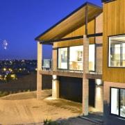 Yellowfox exterior and interior design project - Yellowfox architecture, building, estate, facade, home, house, property, real estate, window, orange, blue