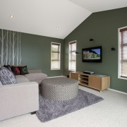 GJ Gardner Homes Lakes show home - GJ bedroom, ceiling, floor, home, house, interior design, living room, property, real estate, room, window, gray, black