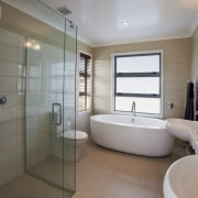 GJ Gardner Homes Lakes show home - GJ bathroom, home, interior design, property, real estate, room, window, gray