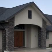 Ledgestone by Stutex Stone - Ledgestone by Stutex architecture, building, door, elevation, facade, garage door, home, house, real estate, residential area, roof, siding, window, black, gray