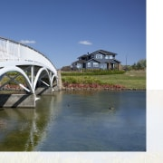 James Hardie Building Products used on House Karaka arch bridge, bridge, fixed link, reflection, water, water resources, waterway, white