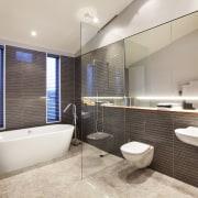 Contemporary home by Coast Papamoa - Contemporary home bathroom, estate, interior design, property, real estate, room, gray