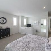 Landmark Homes show home at Karaka Lakes - bedroom, ceiling, floor, home, interior design, property, real estate, room, gray
