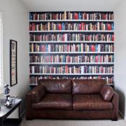 Landmark Homes show home at Karaka Lakes - bookcase, furniture, home, interior design, living room, room, shelf, shelving, wall, window, white