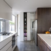 Contemporary open-plan family kitchen - Contemporary open-plan family countertop, cuisine classique, house, interior design, kitchen, real estate, room, white, gray