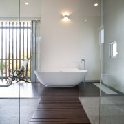Architect Taras Wolf master bathroom - Architect Taras architecture, bathroom, daylighting, floor, flooring, home, interior design, plumbing fixture, property, real estate, room, tile, gray