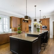 kitchen remodel by Shirley McFarlane - kitchen remodel cabinetry, ceiling, countertop, cuisine classique, hardwood, interior design, kitchen, room, wood flooring, gray