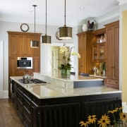 The cabinetry housing the coffee station in this cabinetry, ceiling, countertop, cuisine classique, home, interior design, kitchen, room, white, brown