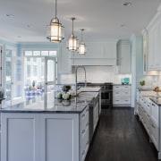 Designer Janice Teague CKD, CBD of Drury Design countertop, cuisine classique, home, interior design, kitchen, room, gray