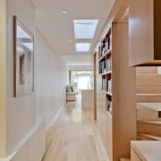 Sandstone terrace renovation by TKD Architects - Sandstone apartment, architecture, ceiling, daylighting, floor, flooring, hardwood, home, house, interior design, real estate, wood, wood flooring, gray, orange