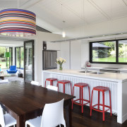 wide-ranging renovation by Mason & Wales Architects dining room, interior design, kitchen, real estate, table, gray, white