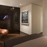 Contemporary apartment interiors dont have to be crisp, ceiling, interior design, real estate, room, suite, brown