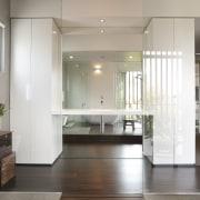 Architect Taras Wolf master bathroom - Architect Taras architecture, ceiling, daylighting, floor, flooring, hardwood, home, house, interior design, laminate flooring, lobby, tile, wood, wood flooring, gray