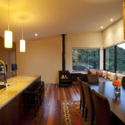 Classic or modern; gas or wood-burning; or for ceiling, home, interior design, living room, real estate, room, table, wood, orange