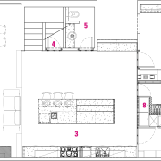 Urban Kitchen with a point of difference -Brian angle, architecture, area, design, diagram, drawing, floor plan, font, line, pattern, plan, product, product design, technical drawing, text, white