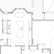 Inviting family kitchen - by Rill Architects - angle, architecture, area, artwork, black and white, design, diagram, drawing, floor plan, home, line, line art, plan, product, product design, residential area, structure, technical drawing, white