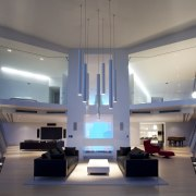 To maximise a spectacular lake and mountain view, architecture, ceiling, daylighting, interior design, lobby, gray