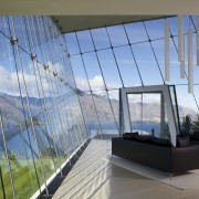 Steel cables help to provide structural support for architecture, daylighting, house, real estate, sky, window, teal, gray