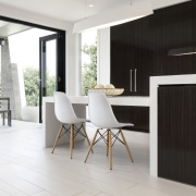 Winning recipe  Rawson Homes and celebrity chef architecture, chair, floor, flooring, furniture, house, interior design, product design, table, white, black