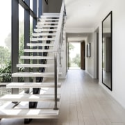 Winning recipe  Rawson Homes and celebrity chef architecture, daylighting, floor, flooring, handrail, home, house, interior design, property, real estate, stairs, wood, wood flooring, white