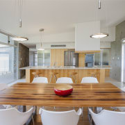 Raw concrete and light wood kitchen - Raw architecture, countertop, house, interior design, kitchen, real estate, table, gray