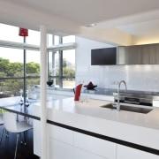Modern penthouse kitchen - Modern penthouse kitchen - architecture, countertop, house, interior design, kitchen, real estate, gray, white