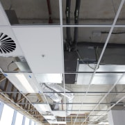 GHD benefits from HVAC by McAlpine Hussmann and architecture, beam, ceiling, daylighting, structure, gray, black