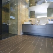 Walk this way  new porcelain tiles from bathroom, floor, flooring, interior design, lobby, room, tile, wood flooring, gray
