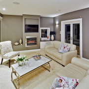 This home built by Starr Constructions epitomises the home, interior design, living room, real estate, room, suite, gray